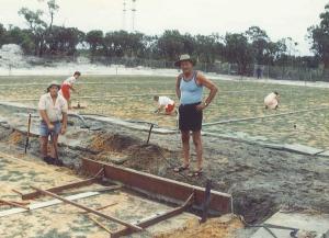 Seeding the turf