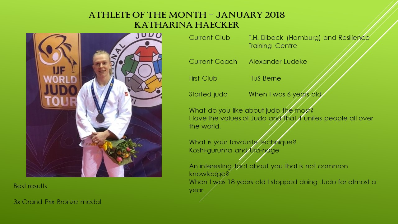 Athlete of the Month - January 2018