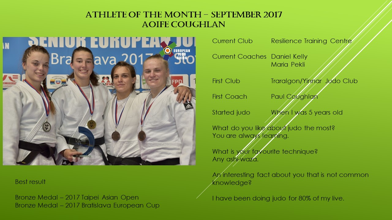 Athlete of the Month September – Aoife Coughlan