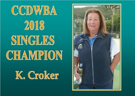 2018 CCDWBA SINGLESCHAMPION