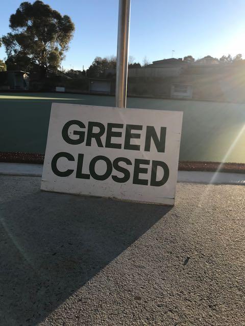 green closed