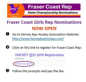 Fraser Coast Girls Rep Nomination