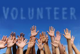 Volunteer hands in the air